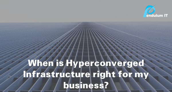 Hyperconverged infrastructure represented by converging lines.